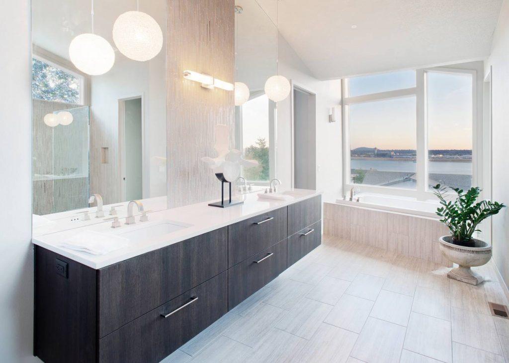 minimalist bathroom renovation Evanston