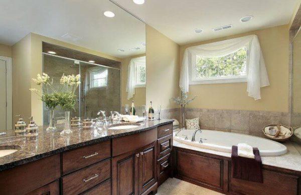 wooden bathroom renovation