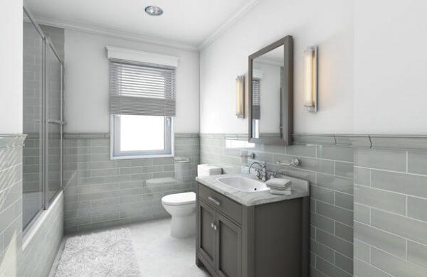 grey bathroom remodeling